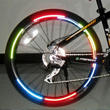 2PCS Bicycle reflector sticker Fluorescent MTB Bike Bicycle Sticker Cycling Wheel Rim Reflective Stickers Decal Accessories