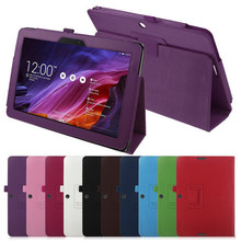 Top Quality Lychee PU Leather Case with Stand For Asus Transformer Pad TF103C TF103CG TF0310C K010 K018 ME103 + stylus