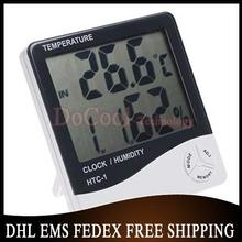 50pcs/lot New 3 in 1 Digital Humidity Temperature Tester Hygrometer Thermometer Clock A8377 Freeshipping(China)