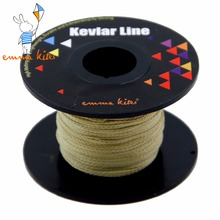 Emmakites Strong 100ft/30M of 250lb Braided Kevlar Fishing Line Stunt Power Kite Fly Line Kite Winder String Free Shipping(China)