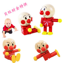 Hot sale changeable cartoon wooden doll wood dolls cute Anpanman baby wooden toy joint movement leg hand head change pose 1pc