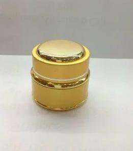 20g gold glass cream jar packing bottle with gold decorative hem,Cream box / bottle<br>