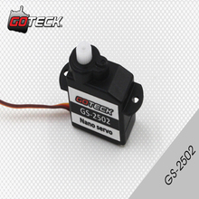 4pcs/lot GOTECK GS-2502 Plastic Gear Servo 2.2g 2g Gotek for Trex Heli Rc Car Truck(China)