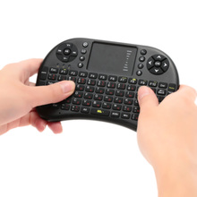 Russian German Spanish Version 2.4G Mini QWERTY Wireless Gaming Keyboard Touchpad Fly Air Mouse Remote Control For Tv Box PC PS4
