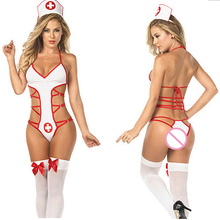 Buy Women Sexy Cosplay Nurse Role-playing Games Uniform Lingerie Erotic Costumes Women's Underwear Teddy Babydoll