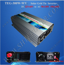 Strong adaptability stability input dc 22-60v solar tie inverter 300w