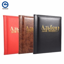 1pc Russian Language Coin Album 10 Pages 250 Pockets Coin Collection Book Coin Holder Mini Size Album Book For Coins Photo Album