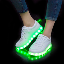 usb led shoes children's luminous shoes sneakers with kids light up shining glowing shoes for girls slippers lights schoenen(China)