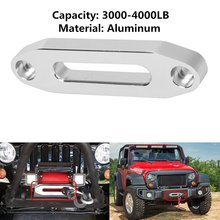 1 set For 5600.3096 MAGNA Polished Aluminum Universal ATV / UTV Hawse Fairlead for Synthetic Rope with screws(China)