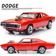 Dodge Charger 1:32 Scale Pull Back Car Model W Sound & Light Fast and Furious Mini Toy Cars oyuncak araba New Year Birthday Gift