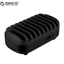 ORICO DUK-10P 10 Ports USB Charger Station Dock with Holder 120W Output Max Intelligent Charger Bus(China)
