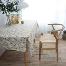 CITYINCITY Fresh Lovely Dandelion Tablecloth Cotton Printed Rectangular For Home Party Wedding Decoration Customized(China)