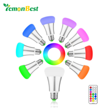Brightness 10W RGB E27 LED Bulb Light Stage Lamp 12 Colors with Remote Control Led Lights for Home AC 85-265V RGB + Cool White(China)