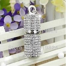 100% real capacity Jewelry crystal diamond flash Memory Jewelry usb flash drives storage device Usb 2.0 Usb Pendrive S53 *(China)