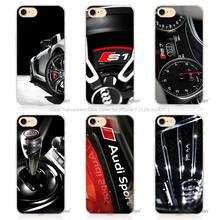 Hot Sale Audi RS4 RS6 RS7 RS8 Hard Transparent Phone Case Cover Coque for Apple iPhone 4 4s 5 5s SE 5C 6 6s 7 Plus