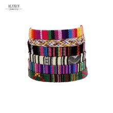New fashion jewelry cloth Bohemia weave friendship bracelet mix design gift for women girl 1lot=6pieces B3512(China)
