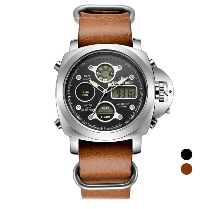 Men Metal Waterproof Quartz  Watch Male Leather Casual Wristwatch Luxury Business Sport watches Clock Relogio Masculino Gifts D<br>