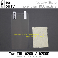 Clear Glossy LCD Screen Protector Guard Cover Film Shield For THL W200 / THL W200S