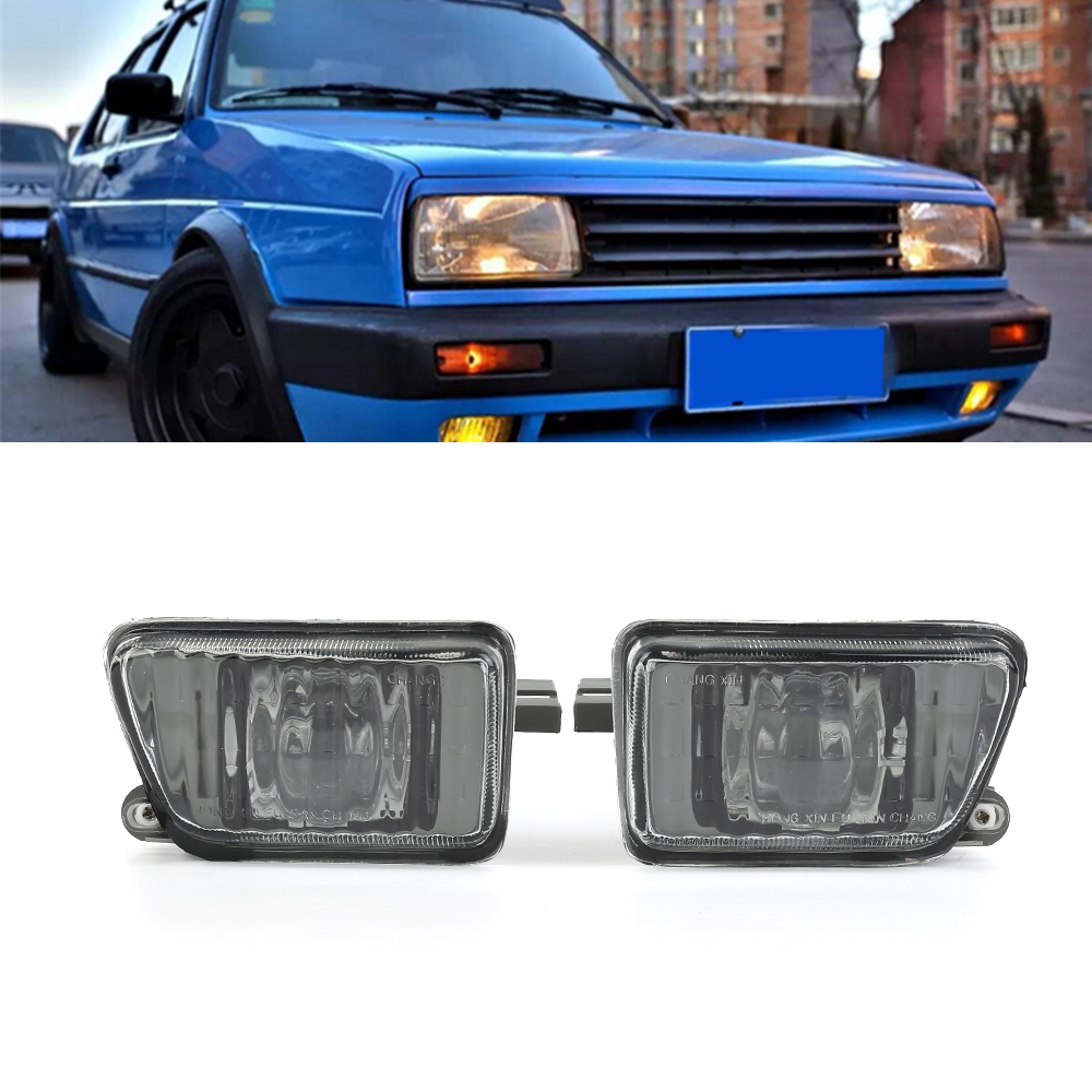 Fog Lights Liplasting 2Pcs ABS Projector Fog Lights Front Driving Lamps For VW Jetta MK2 1992-1996<br>