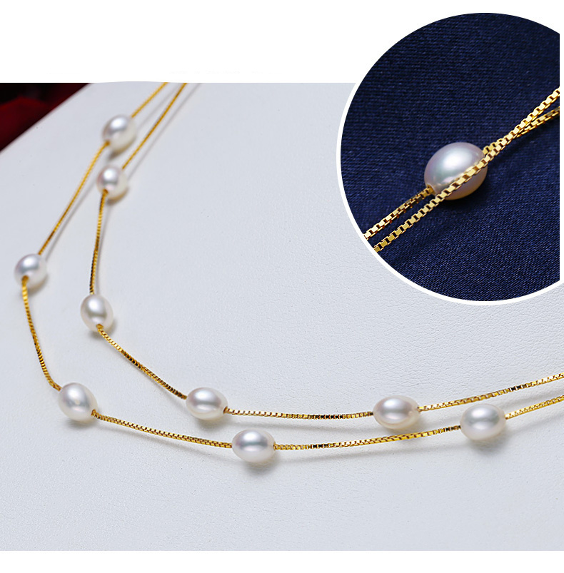 HTB1yxM8aMsSMeJjSspeq6y77VXax - Real 925 Sterling silver necklace Perfect natural pearl choker necklace 120cm long necklace for women Fashion jewelry