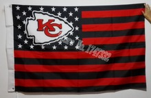 Kansas City Chiefs  Premium Team Football Flag Black And Red Hot Sell Goods 3X5FT 150X90CM Banner brass metal holes