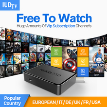 MAG 250 Smart IPTV Set Top Box Linux Media Player + IUDTV account Europe Italy French Arabic HD IPTV Channel Subscription 1 year