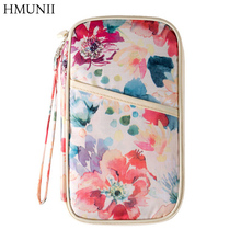 2017 New Arrival Fashion Creative Pattern Print Travel Women Needed Documents Package Passport Credit Card ID Holder Organizers(China)