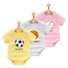 Baby girl clothes short sleeve summer crawling clothes boy shorts overalls cute football model cotton good quality(China)