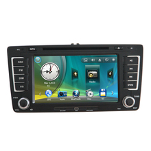 "7"" Car Radio DVD GPS Navigation Central Multimedia for Skoda Octavia 2013 USB RDS Analog TV Phonebook Bluetooth Handsfree"