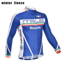 Italy blue classic ITALIA cycling jersey men long sleeve Winter Fleece & no Fleece cycling clothing MTB Breathable Bike Jersey