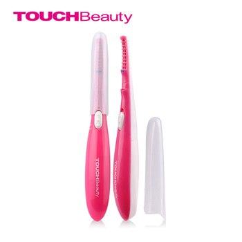 Touchbeauty rizador de pestañas con calefacción 15 s estilo de la pluma mini portátil de larga duración pestañas rizadas maquillaje herramientas tb-0726