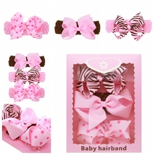 3pcs/set Leopard Fashion Baby Girls Princess Headbands Headwear Kids Children Hairbands Hair Accessories Gift Box For Baby Girl(China)