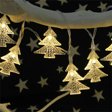 30 LEDs Window Curtain Lights Happy Christmas Tree Solar Energy String Lamp House Party Decor Holiday LED Strip Lighting(China)