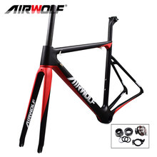 Airwolf Monocoque ultralight carbon road frame Toray T1100 only 843g bicicleta carbon frame in EPS technology carbon bike frame(China)