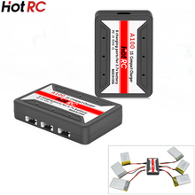 1pcs Orginal HotRc A100 X6 6 in 1 3.7V Lipo Battery Adapter 3.7v battery Charger USB for Syma X5 X5C  JJRC H8 Hubsan H107