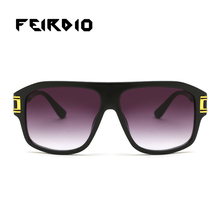 Feirdio Designer Brand Men Sun Glasses Half Metal Oversized Frame Eye Glasses Vintage Colorful Oculos Anti Glare Vision China