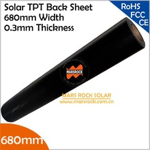 10 meter/lot Wholesale Black TPT Solar Back Sheet, 680mm Width 0.3mm Thickness, Black Back Sheet Solar Panel Laminated Material(China)