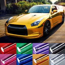 Car Sticker 152x30cm 8 Colors PVC Film Car Stickers Waterproof Car Styling Wrap For Auto Vehicle Car Accessories Motorcycle AJ