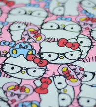 90*145cm patchwork Canvas fabric cartoon Hello kitty cat fabric for Tissue Kids Bedding home textile school bag for Sewing