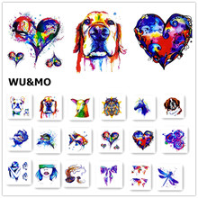 WM Corlorful Animals Heart Fish Body Art Sexy 8x8cm Waterproof Temporary Tattoo For Man Woman Henna Fake Flash Tattoo Stickers