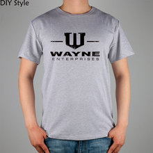GOTHAM CITY WAYNE ENTERPRISES BATMAN T-shirt Top Pure Cotton Men T shirt New Design High Quality(China)
