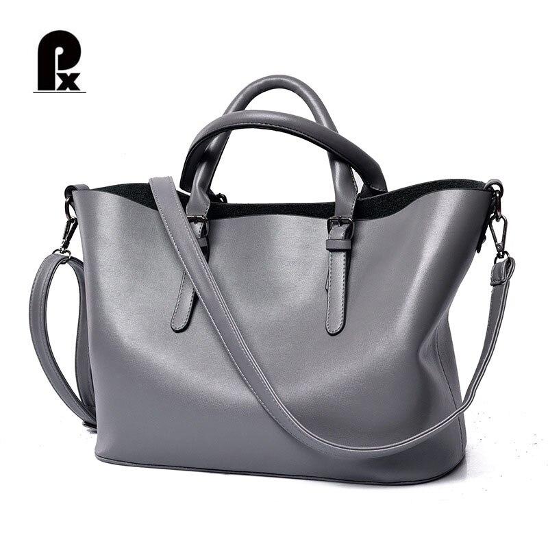 Luxury Women Genuine Leather Handbags Brand Womens Bags Designer Totes Big Bag Black Silver Bolsa Feminina Sac A Main Mujer<br>
