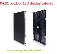TEEHO P4.81 6pcs/lot outdoor 500*1000mm LED Display DieCast Cabinet panel led videowall rental advertising wedding hotel stadium(China)