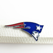 NFL Football Sport New England Patriots Team Logo Slide Charms Jewelry Finding fit 8mm Wristband Pet Collar Key Chain 20pcs/lot