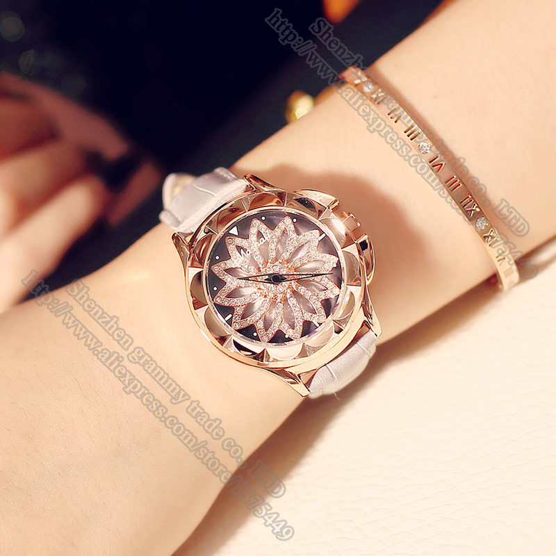 Clock Quartz-watch Leather Strap Ladies Watch your luck is on the turn Carved Rose gold shell Watches Women Gift Accessories<br><br>Aliexpress