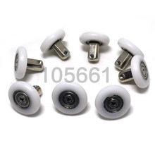 8pcs 25mm Double Wheel Sliding Roller Pulley for DIY Shower Door Window