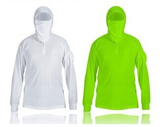 Breathable sun protection clothing sunscreen clothing male clothing clothes fluorescent green<br>