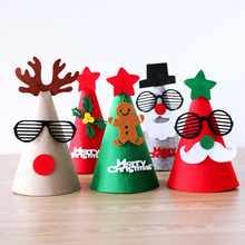 Misaya Christmas Santa Claus Hat Caps Decorations Festival Charms Favor Caps DIY Handmade Christmas Gifts Party Supplies Crafts