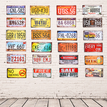 Metal Tin Sign Plaque Car License Plate Warning Poster No smoking Shot Home Restaurant Bar Cafe Wall Stickers Decor 15*30cm(China)