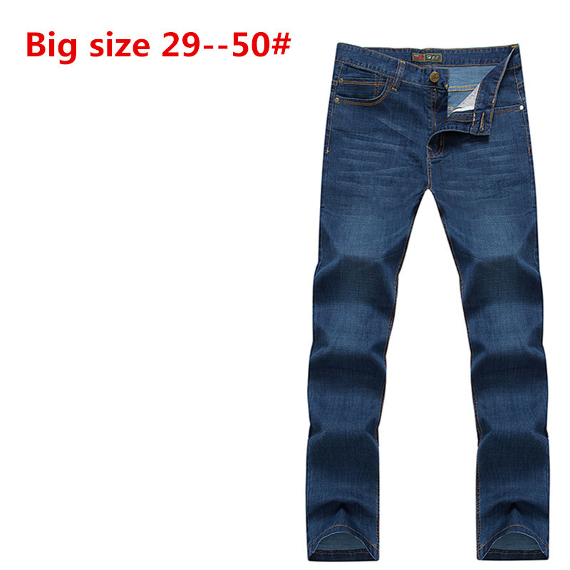 Plus Big 48 46 44 42 9XL 8XL 7XL 6XL 5XL spring mens obese high quality denim trousers male loose straight jeans cottonОдежда и ак�е��уары<br><br><br>Aliexpress